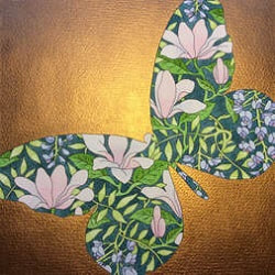 Catriona Yate | Butterfly shaped foliage with gold background
